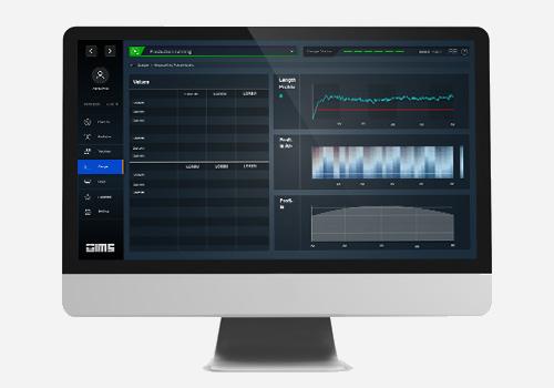 human-machine interface auf einem monitor mit schwarzem hintergrund