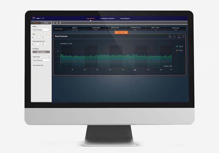 page builder für human machine interface dargestellt auf einem monitor