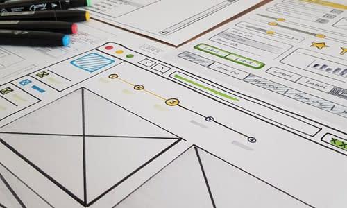 darstellung von ideenentwürfen human-machine interface auf papier