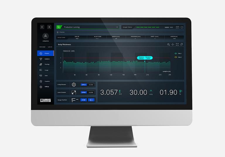 ausschnitt human-machine interface design auf einem monitor